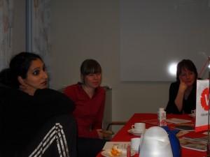 Jaya, Tove och Maria / foto Christer