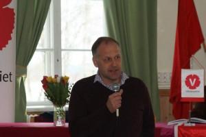 Jonas Sjöstedt på distriktsårskonferens