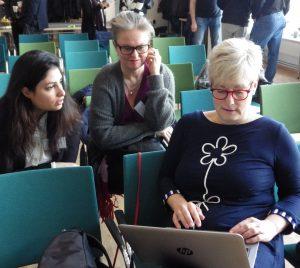 Nooshi, Åse och Marie