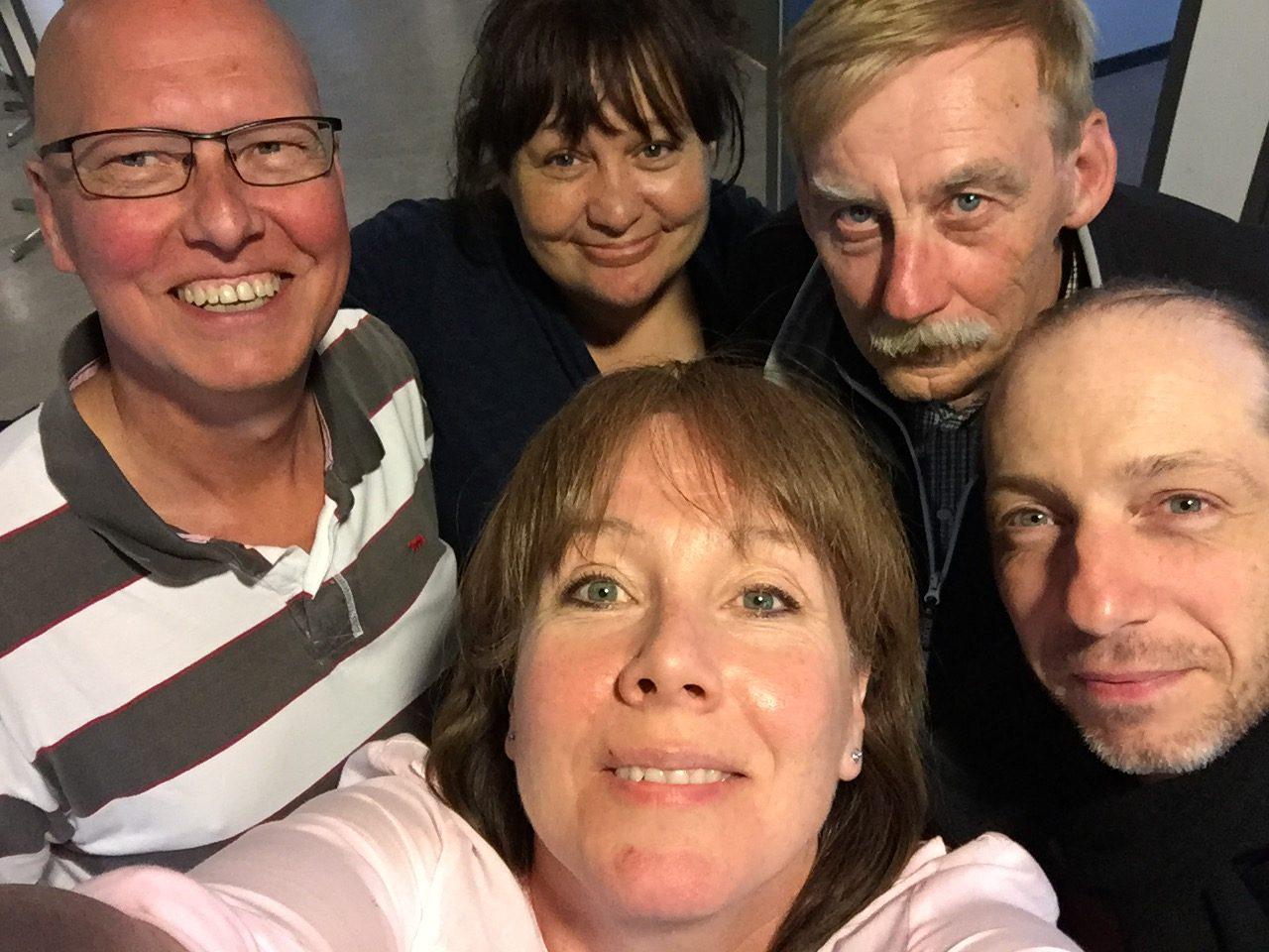 Christer, Petra, Tommy, Fredrik och längst fram Maria