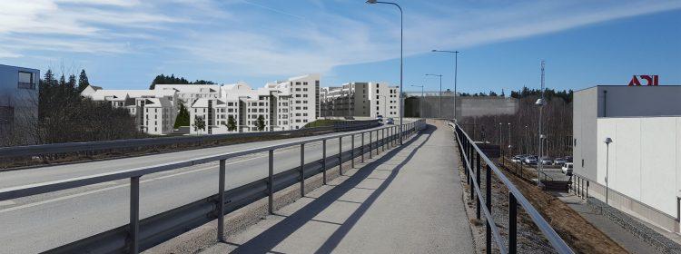 Exempelvy från bro Centrala Ängby