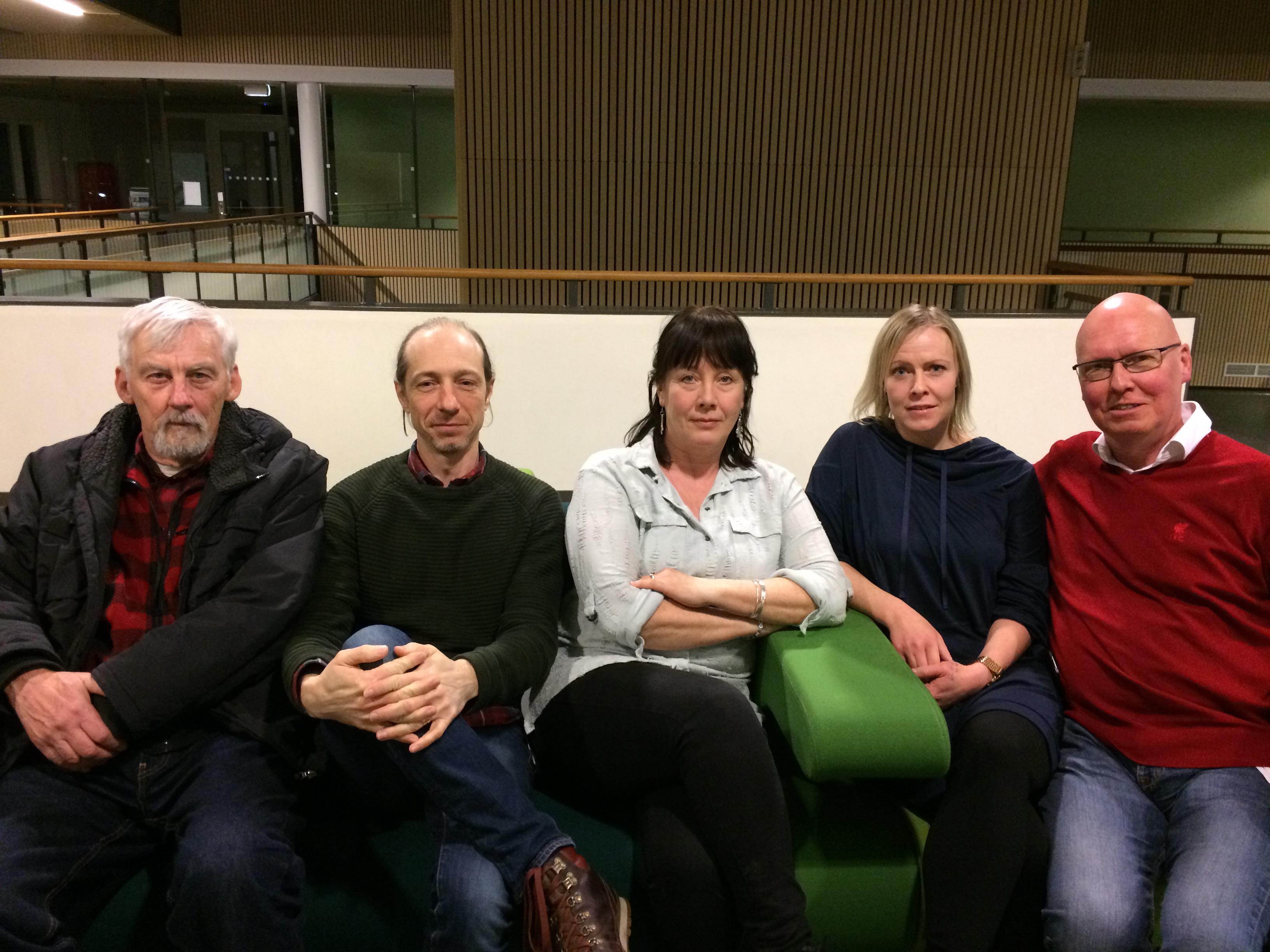 Tommy, Fredrik, Maria, Anna och Christer